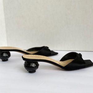 Kate Spade Peep Toe Bow Slides